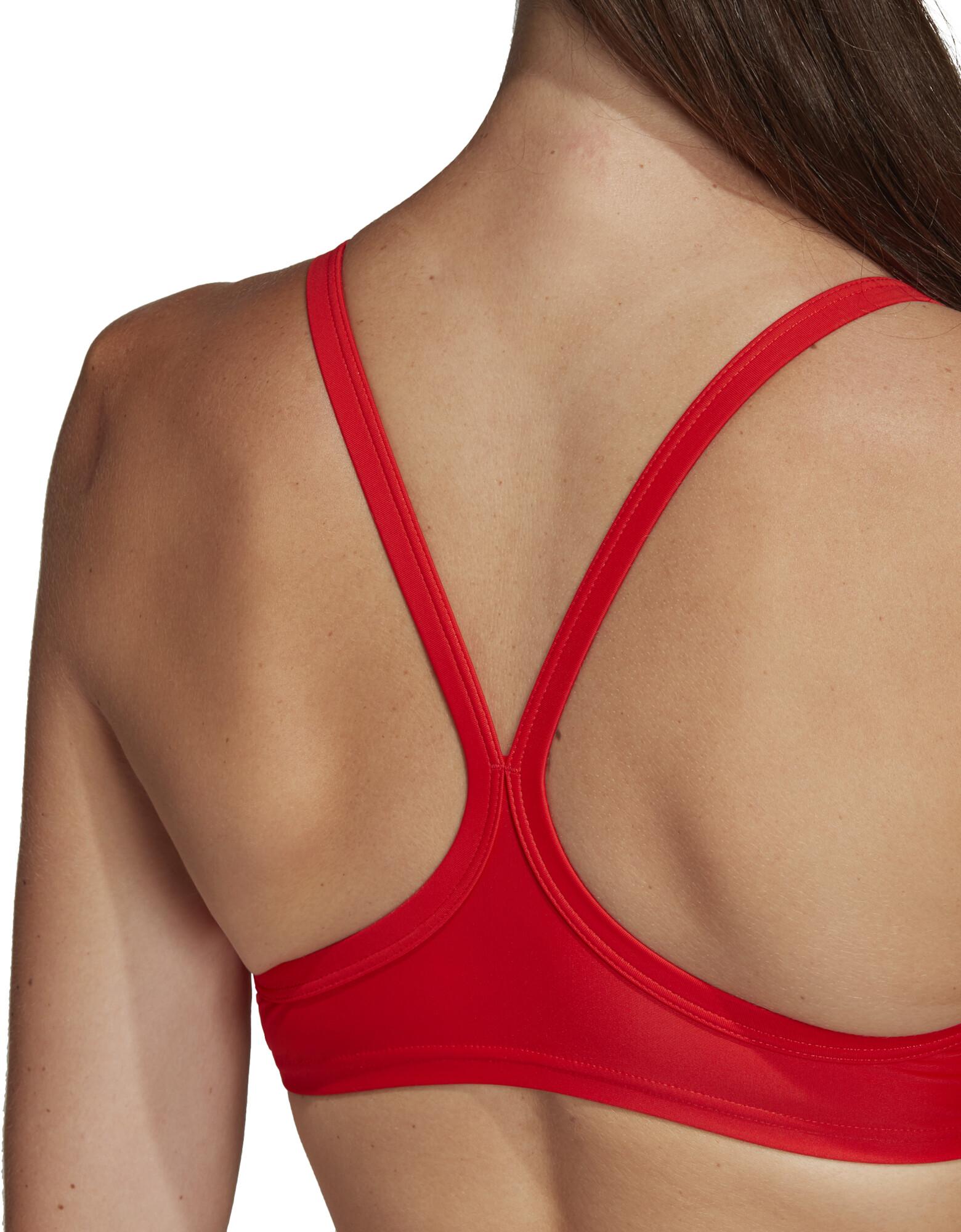 4abef14429 adidas Fit 3-Stripes Infinitex Bikini Women, active red su Bikester